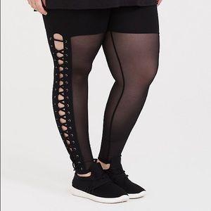 Torrid mesh lattice leggings